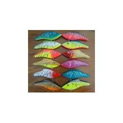 blister de señuelos con 24 ranas e individuales